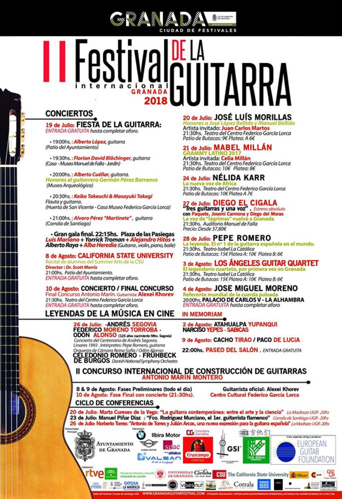 Programa del Festival Internacional de la Guitarra-Granada