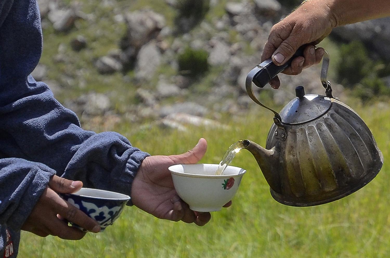 Compartiendo el té-Kirguistán