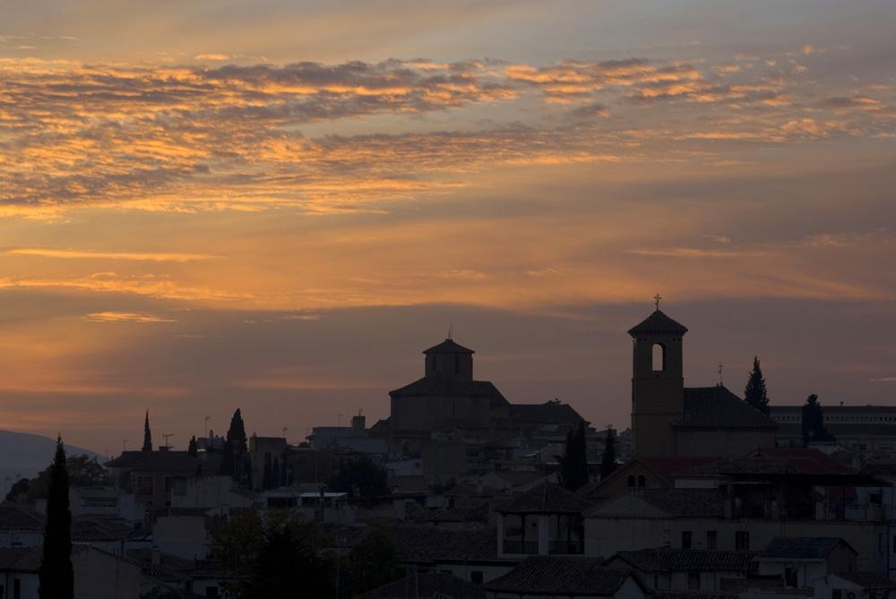 Atardecer en el Barrio del Albaycín-Granada
