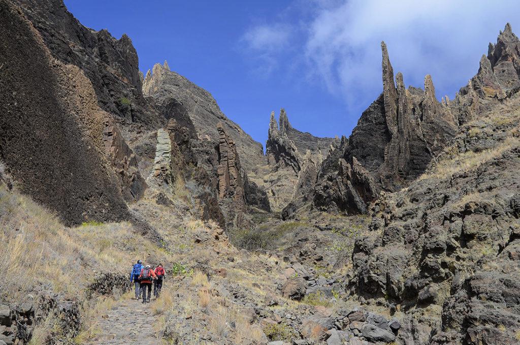 Diques volcánicos-Cabo Verde