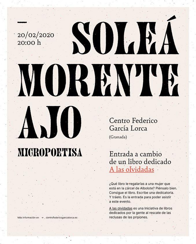 CARTEL DE PRESENTACIÓN-CENTRO FEDERICO GARCÍA LORCA-GRANADA