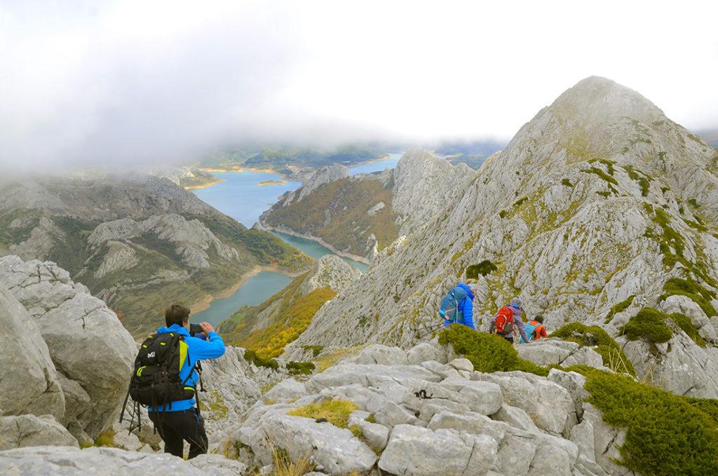 Hacia el pico Huelde-León l