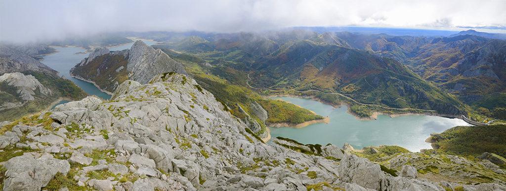 Panorámica desde el pico Huelde-León